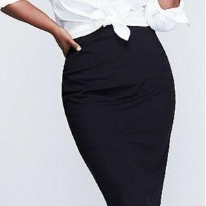 Lane Bryant Black Knit Skirt Size 28